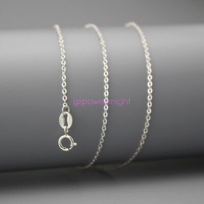 Genuine 925 Sterling Silver Curb Chain Necklace All Inches Stamped Italy Gift UK