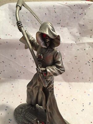 Ratcliffe Pewter Grim Reaper With Red Crystals-RF1250