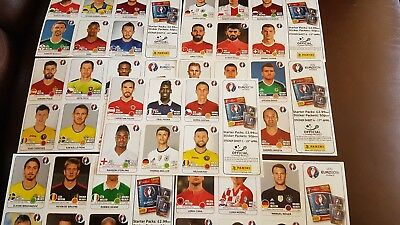 Panini Euro 2016 France 7 Large Sheets Of 6 Stickers