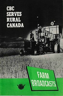 CBC Farm Broadcasts Advertising Brochure (1950's)