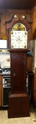 A Georgian 8 day duration Antique Cottage Longcase Grandfather Clock C1820