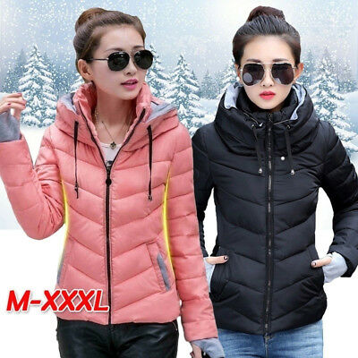 Womens Winter Jacket Thick Parka Outerwear Down Short Slim Cotton-padded Coat