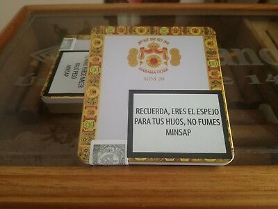 CASE CIGAR PUNCH MINI 20 SIGARI ORIGINALE HABANOS no COHIBA in HUMIDOR CASE