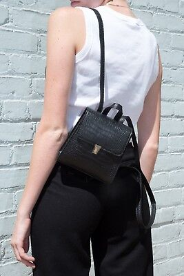32844f3b31 NEW! BRANDY MELVILLE Black faux leather mini backpack Purse NWT ...