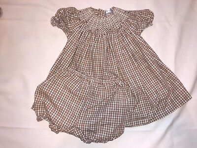 Baby Girls Smocked Fall Dress Thanksgiving Size 12 Months Petit Pomme