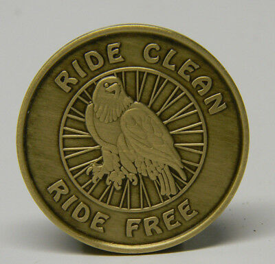 Aa - Na - Recovery Chip - Medallion - Ride Clean - Ride Free