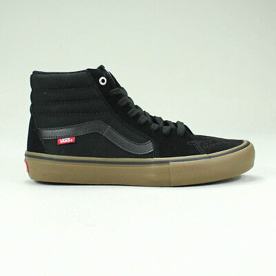 Vans Sk8 Hi Pro Trainers Shoes in Black/Gum in UK Size 4,5,6,7,8,9,10,11