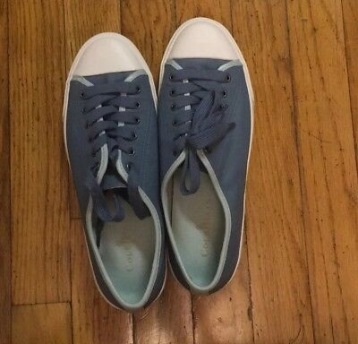 COLE HAAN Nike Air WOMENS Blue Leather Lace Up Sneakers Cushion Soles Size 8.