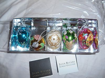NIB 5Pk. of Joan Rivers Faberge Ornaments/eggs Collectible/Retired 2011!!