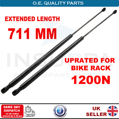 2X Vw Transporter T6 Tailgate Boot Gas Struts (1200N) Uprated For Bike Rack