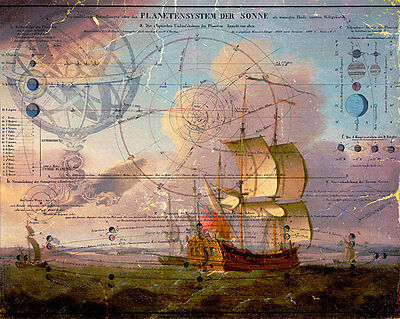 Shipping Celestial A2+ High Quality Canvas Art Print