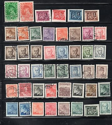 Czechoslovakia  Stamps Canceled Used & Mint Hinged   Lot 22493