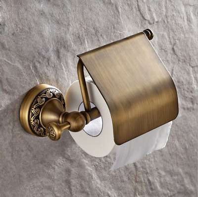 European Antique Design Copper Brass Roll Toilet Paper Holder Wall Mounted