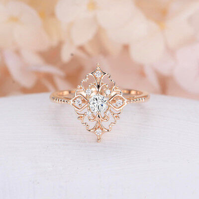 Women's 18k Yellow Gold Plated Jewelry Wedding Rings White Sapphire Size 6-10