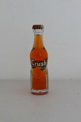 Vintage Orange Crush Soda Miniature 3 inch Glass Bottle WITH PRINTED BOTTLE CAP