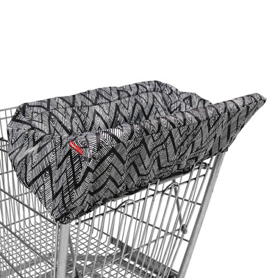Baby High Chair Cover With Zig Zag Zebra Design Shopping Cart Padded Seatcover
