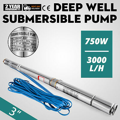 "3"" Borehole Pump Deep Well Water Submersible Electric Garden Pump"
