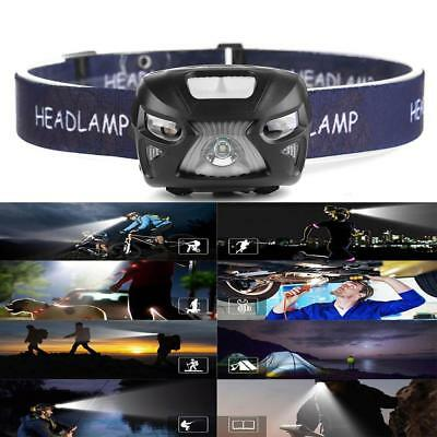 USB Rechargeable 12000LM LED Motion Sensor Headlamp Headlight Torch Flashlight