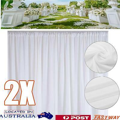 2X 3*3M Wedding Party Stage Backdrop Swag Drape Sheer Curtain Photo Background