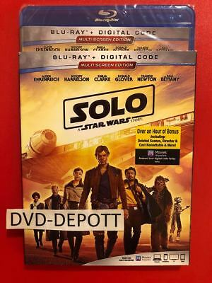 Solo: A Star Wars Story Blu-ray + Digital,HD & Sleeve New REGION FREE Disc