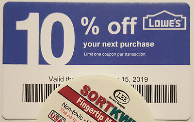 Twenty (20) LOWES Coup0ns 10% OFF At Competitors ONLY not Lowes ExpMay_15 2018