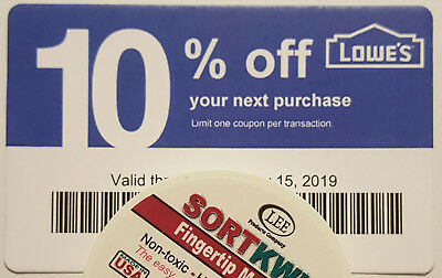 Twenty (20) LOWES Coup0ns 10% OFF At Competitors ONLY not LowesExpMay 15 2018