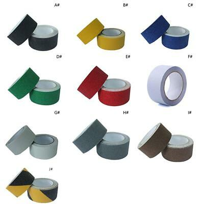 2.5CM*5M Roll Safety Non Skid Tape Anti Slip Tape Sticker Grip Safe Grit 10Color
