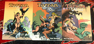 Tarzan 3 Graphic Novels by Russ Manning, Dark Horse 1999 NM all first printings
