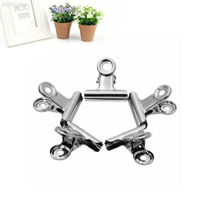 F475 10pcs Mini Bulldog Stainless Steel Silver Metal Paper Letter Clips Tool
