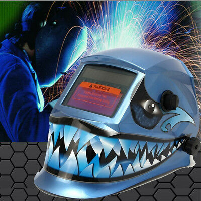 7113 Shark Solar Power Auto Darkening Welding Helmet Arc Tig Mig Grinding Face M