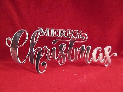 10 Silver  Merry Christmas Die Cuts.......cardmaking.......christmas.....style 2