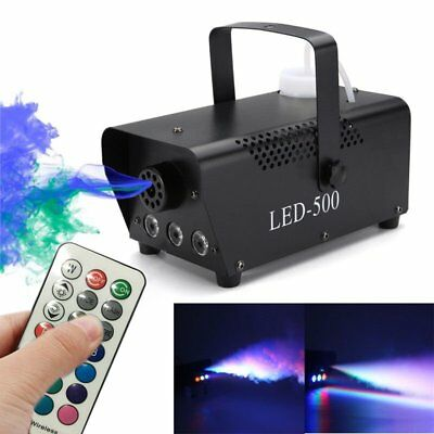 500W Wireless Remote Color Control Portable Fog Machine RGB 3 In 1 LED Light