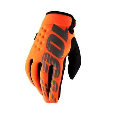 100% Brisker Kinder Winter Handschuhe L orange Fahrrad Motocross quad DH MTB MX