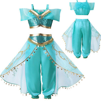 Kids Costume Princess Outfit Girls Sequin Party Fancy Dress Cosplay