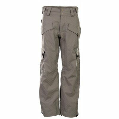115ccfc40fa30 VANS MEN'S MYLAN Insulated Snowboarding Cargo Pants - Small - Grey - New