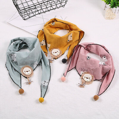Kid Baby Solid Color Scarf Cotton Triangle Scarves Autumn Winter Warm Shawl Wrap