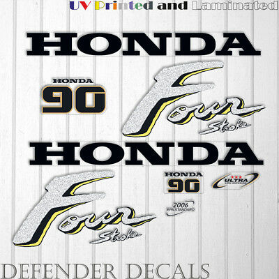 HONDA 90 HP Four Stroke outboard engine decal sticker set kit reproduction  90HP