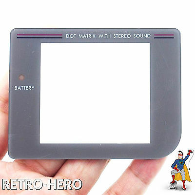 GameBoy Classic Display Scheibe Ersatz / Austausch Game Boy screen LCD Grau