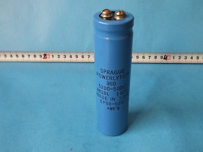 Used WARRANTY Sprague Powerlytic 5500-200 DC Capacitor