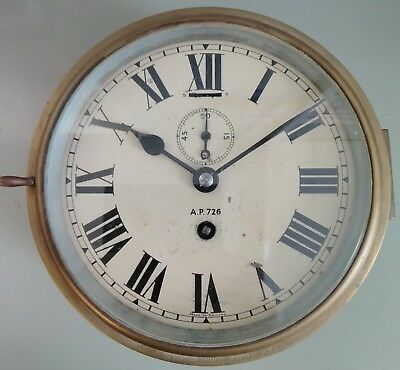 Antique WW2 Smiths Admiralty Pattern 726 Ships Clock