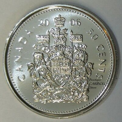 2006 P Canada 50 Cents Coat of Arms BU