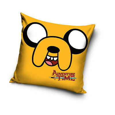 ADVENTURE TIME Finn the Human & Jake yellow cushion cover 40x40cm 100% COTTON