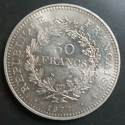 1977 France (Hercules) 50 Francs Large Silver Coin UNCIRCULATED....