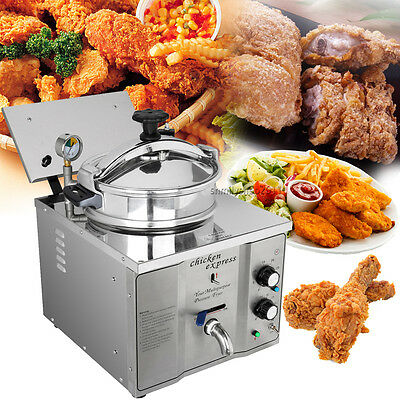 3KW 16L Stainless Cooking Countertop Pressure Fryer Control temperature 50-200℃