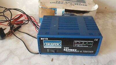 Draper BC12 12V Volt 12A Amps Automatic Car Battery Charger Tester