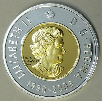 2006 Canada Silver Proof Toonie, Gold Plated