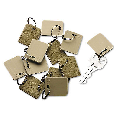 Extra Blank Velcro Tags Velcro Security-Backed 1 1/8 x 1 Beige 12/Pack 04985