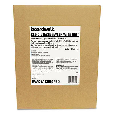 Boardwalk Oil-Based Sweeping Compound Grit Red 50lbs Box A1COHORED