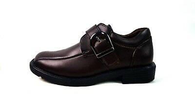 Boys Brown Faux Leather School Shoes  Prom Formal Wedding Brogues