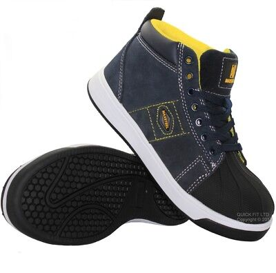 Mens Lightweight Leather Safety Steel Toe Cap Work Ankle Hiking Trainers Boots